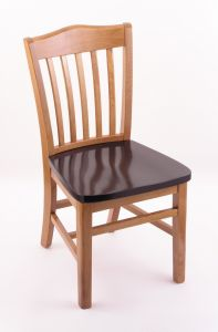 3110 Medium Finish Dining Room Chair with Dark Cherry Seat
