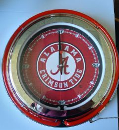 "Alabama 15"" Neon Clock"