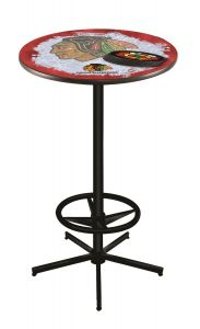 Chicago Blackhawks Ice Design Pub Table
