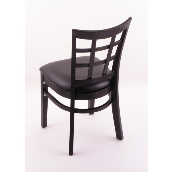 Hampton 18 3130 Dining Room Chair Black Finish And Vinyl Seat