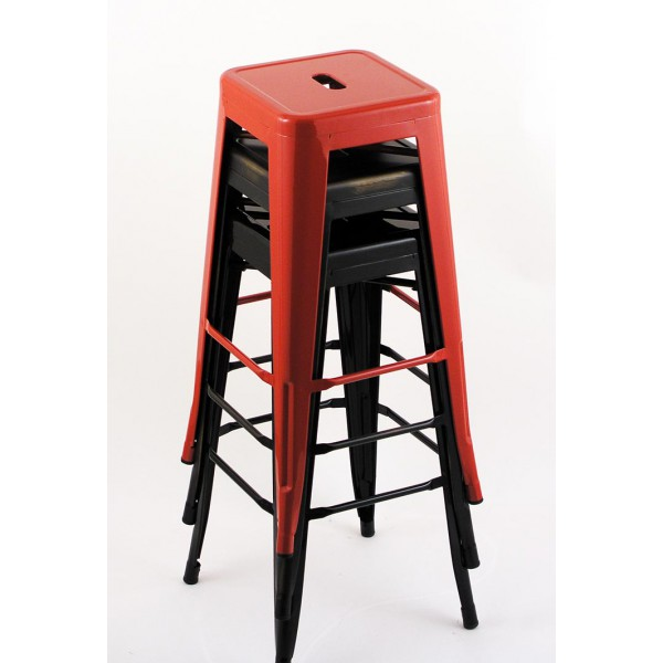 Awesome 4 Pack 24 Seat Height Indoor Outdoor Red Backless Bar Stools Uwap Interior Chair Design Uwaporg