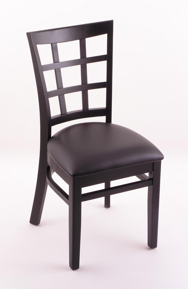 Hampton 18 3130 Dining Room Chair Black Finish And Vinyl Seat