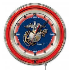 "U.S. Marines19""  Neon Clock Brand New"