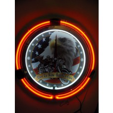 "15"" Live to Ride Neon Clock"