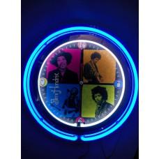 Jimi hendricks 15 inch neon clock
