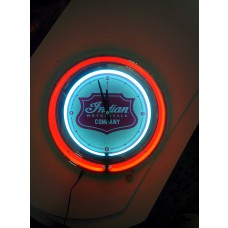 "Indian Motorcycle Badge 15"" Neon Clock"