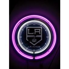 """LA King 15"""" Neon Clock"""