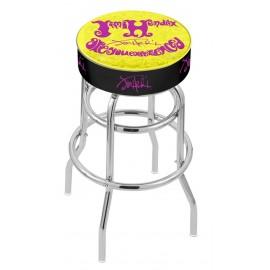 "25"" L7C1 - 4"" Jimi Hendrix - AYE (Yellow) Cushion Seat with Double-Ring Chrome Base Swivel"