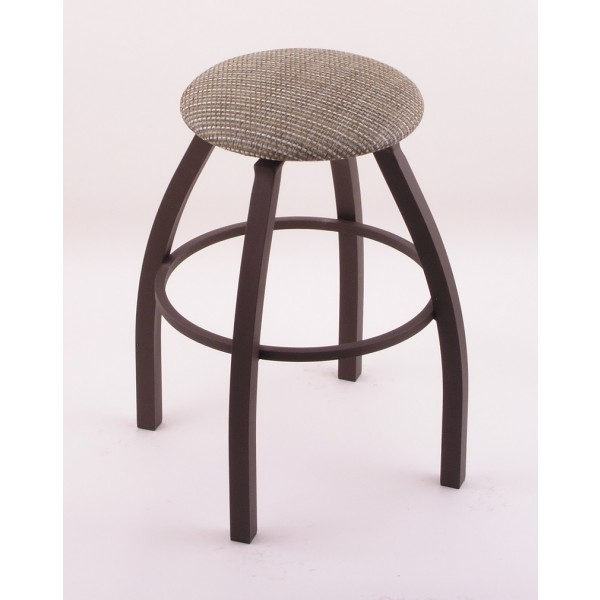 1802 Backless Swivel Bar Stool With Bronze Finish And