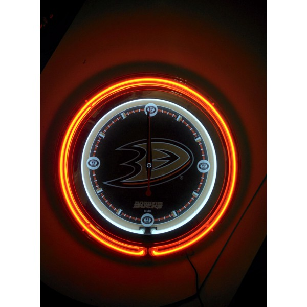 15 Quot Double Neon Clock With Anaheim Ducks Logo From Holland