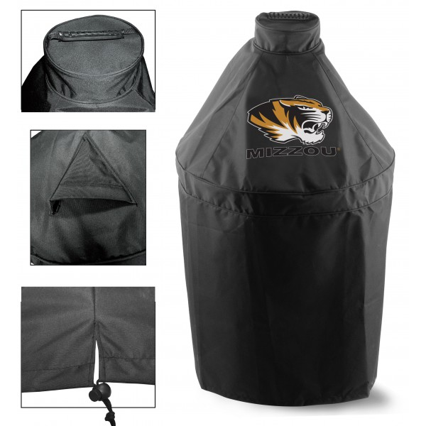 Green Egg Grill Cover with Univesity of Missouri Logo