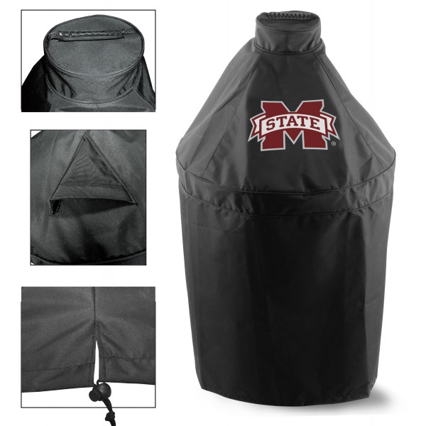 Green Egg Grill Cover with Mississippi State University Logo