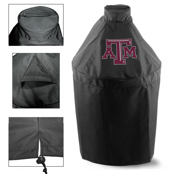 Green Egg Grill Cover with Texas A&M Logo