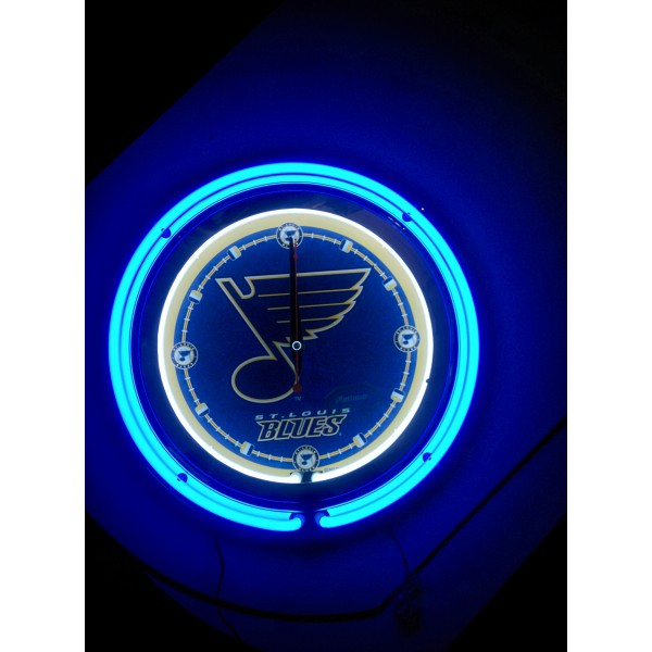 15 Quot Double Neon Clock With St Louis Blues Logo From