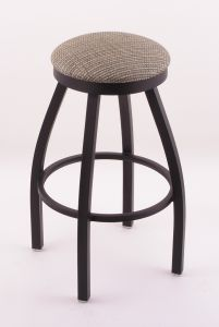 Outdoor 800 Backless Swivel Bar Stool with Black Wrinkle Finish