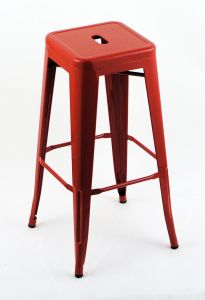 "4 Pack - 30"" Seat Height Indoor Outdoor Backless Red Bar Stools"